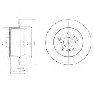 Тормозной диск DELPHI BG4268 - изображение