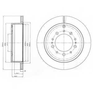 Тормозной диск DELPHI BG4275 - изображение