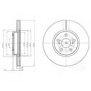 Тормозной диск DELPHI BG4277 - изображение