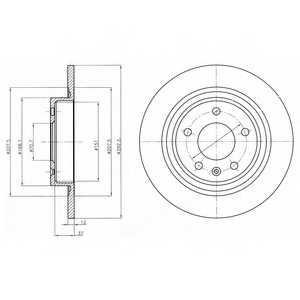 Тормозной диск DELPHI BG4279 - изображение