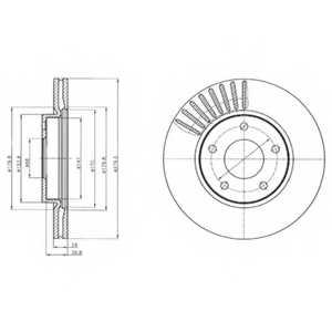 Тормозной диск DELPHI BG4282 - изображение