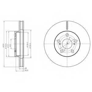 Тормозной диск DELPHI BG4290 - изображение