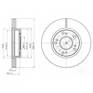 Тормозной диск DELPHI BG4294 - изображение