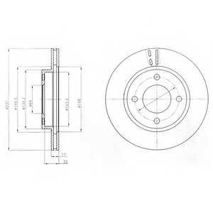 Тормозной диск DELPHI BG4299 - изображение