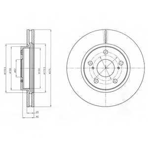 Тормозной диск DELPHI BG4304 - изображение