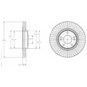 Тормозной диск DELPHI BG4309 - изображение
