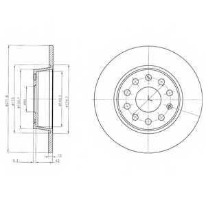 Тормозной диск DELPHI BG4324 - изображение