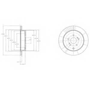 Тормозной диск DELPHI BG4329 - изображение