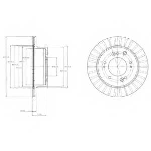 Тормозной диск DELPHI BG4331 - изображение