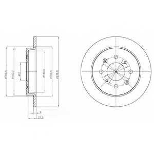 Тормозной диск DELPHI BG4334 - изображение