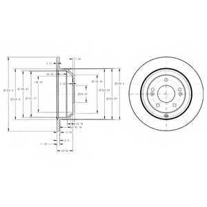 Тормозной диск DELPHI BG4335 - изображение