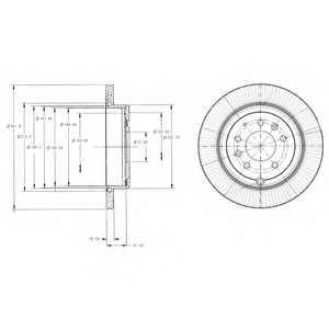 Тормозной диск DELPHI BG4336 - изображение