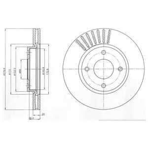 Тормозной диск DELPHI BG4337 - изображение