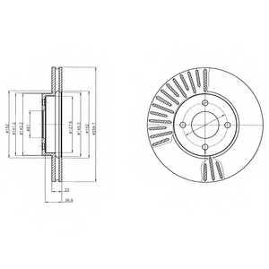 Тормозной диск DELPHI BG4454 - изображение