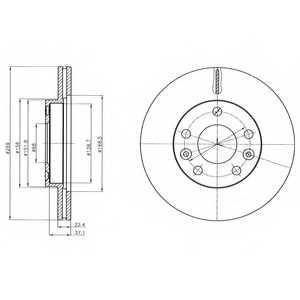Тормозной диск DELPHI BG4455 - изображение