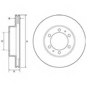 Тормозной диск DELPHI BG4557 - изображение