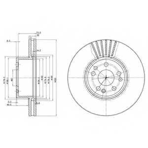 Тормозной диск DELPHI BG739 - изображение