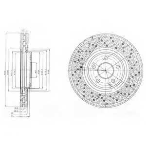 Тормозной диск DELPHI BG9014 - изображение