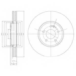 Тормозной диск DELPHI BG9020 - изображение