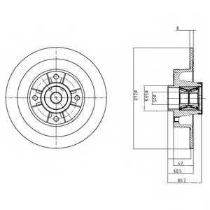 Тормозной диск DELPHI BG9028RS - изображение