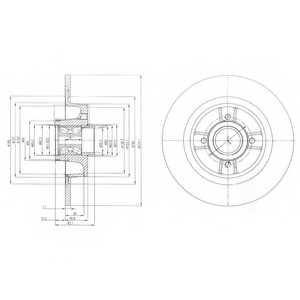 Тормозной диск DELPHI BG9029RS - изображение