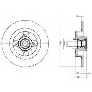 Тормозной диск DELPHI BG9030RS - изображение