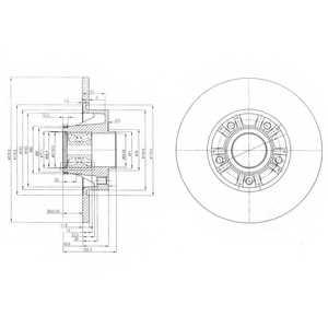 Тормозной диск DELPHI BG9031RS - изображение