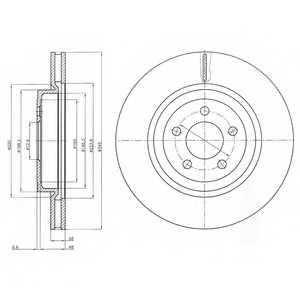 Тормозной диск DELPHI BG9050 - изображение