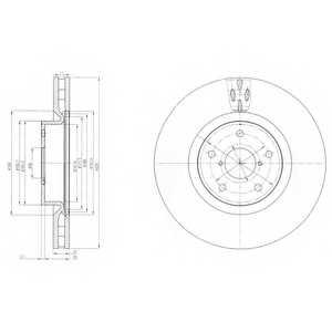 Тормозной диск DELPHI BG9055 - изображение