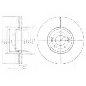 Тормозной диск DELPHI BG9056 - изображение