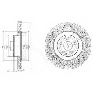 Тормозной диск DELPHI BG9057 - изображение