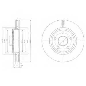 Тормозной диск DELPHI BG9058 - изображение