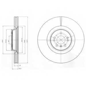 Тормозной диск DELPHI BG9060 - изображение