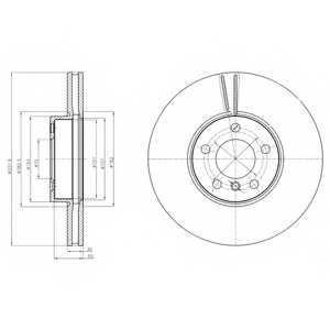 Тормозной диск DELPHI BG9061 - изображение
