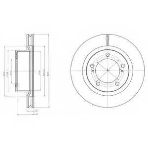 Тормозной диск DELPHI BG9067 - изображение