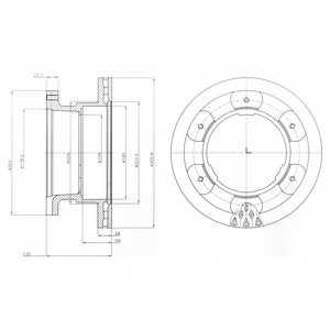 Тормозной диск DELPHI BG9069 - изображение