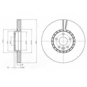Тормозной диск DELPHI BG9085 - изображение