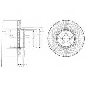 Тормозной диск DELPHI BG9105 - изображение