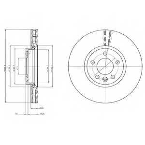 Тормозной диск DELPHI BG9106 - изображение