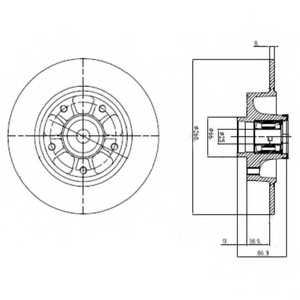 Тормозной диск DELPHI BG9112RS - изображение