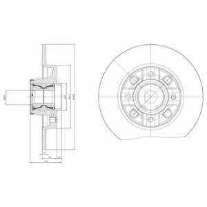 Тормозной диск DELPHI BG9116RS - изображение