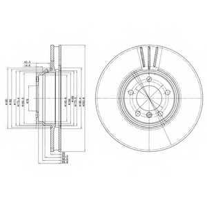 Тормозной диск DELPHI BG9212 - изображение
