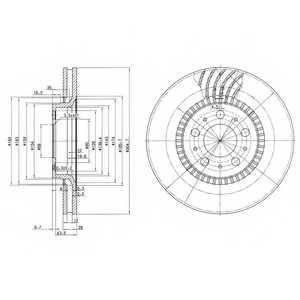 Тормозной диск DELPHI BG9514 - изображение