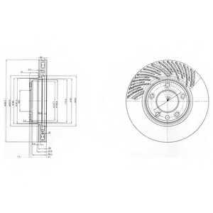 Тормозной диск DELPHI BG9773 - изображение