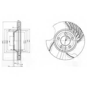 Тормозной диск DELPHI BG9774 - изображение