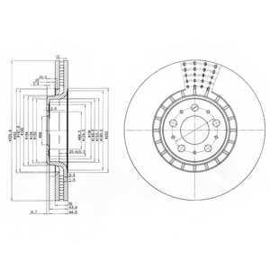 Тормозной диск DELPHI BG9783 - изображение