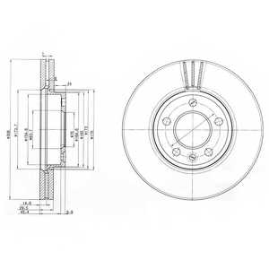 Тормозной диск DELPHI BG9891 - изображение