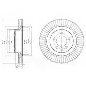 Тормозной диск DELPHI BG9926 - изображение