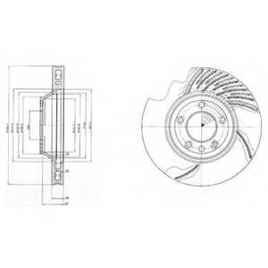 Тормозной диск DELPHI BG9950 - изображение