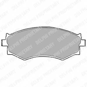 Колодки тормозные дисковые DELPHI LP1228 - изображение